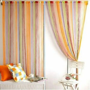 Living room Curtain Draw Texturing Yarn Home Line Room Drapes Convenient