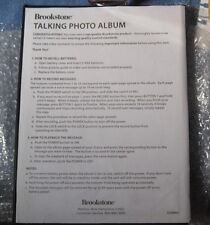 BROOKSTONE DIGITAL RECORDING TALKING TWENTY PAGE PHOTO ALBUM - NEW OUT OF BOX