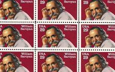 1991 - WILLIAM SAROYAN - #2538 Full Mint -MNH- Sheet of 50 Postage Stamps