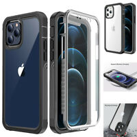 For iPhone 12 Pro Max mini Case Full Shockproof Rugged Cover W/ Screen Protector