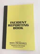 Incident Reporting Book - Great for Pubs & Clubs