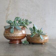 2 Judy Boydell Artisan Australian Pottery Bowls Pots Signed Stacking Pair