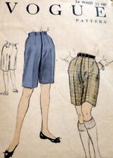 LOVELY VTG 1950s SHORTS VOGUE Sewing Pattern WAIST 24