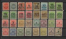 Allemagne Deutsches Reich années 20 32 timbres /T2421
