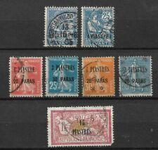 Lot de 7 timbres - LEVANT (o) - Bureaux de poste français en Turquie - (77)