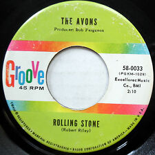 AVONS 45 Rolling Stone / Words Written On Water SOUL Popcorn GIRL GROUP w2746