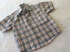Boys' Casual check Cotton Short Sleeve Sleeve Shirts (2-16 Years)