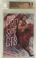Trae Young 2018 Panini The National Prospects Rookie Magnetic Fur /99 BGS 9.5