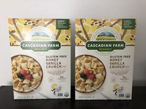 2 Cascadian Farm  Cereal Honey Vanilla Crunch - 10.5 OZ Box