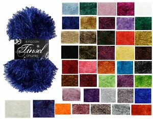 King Cole Tinsel Chunky Yarn / Wool 50g Balls - All Colours - Free Postage