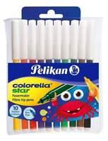 Pelikan Filzstifte star fein 10 Stück Colorella  Fasermaler feine Spitze 302/10