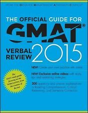 The Official Guide for Gmat Verbal Review 2015 with Online Question Bank and Ex