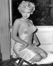 Marilyn Monroe in a slip  Black and White Art Poster Print