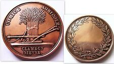 CLAMECY .NIEVRE MEDAILLE CUIVRE.39 MM .COMICE AGRICOLE .BELLE FRAPPE