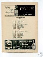 White Horse Scotch Whisky Ad 1950's Original Vintage Ad