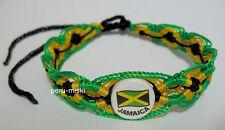2 JAMAICA flag FRIENDSHIP BRACELETS - RASTA HANDMADE - SURF
