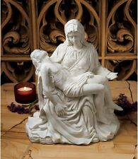 Madonna Mary Jesus Michelangelo Pieta Replica Bonded Marble Sculpture Large