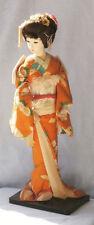 Poupee socle Japonaise Femme Kimono 20thC Japanese Geisha/Bijin doll on stand