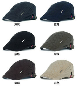 1PCS Mens Leisure Cotton Beret Peaked Cap Hat