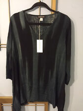 NWT Modesce TunicTop Annie L Charcoal/Black Rayon