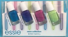 essie NEON Collection 4-pc Mini Nail Polish Cube Set~ noise pass bella vibes NIB