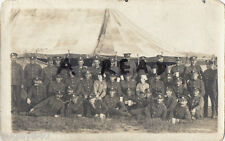 WW1 soldier Group Royal Engineers with Canteen Workers ? Herring Fleet Camp 1918