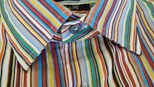 "PAUL SMITH Mens designer Shirt 17 XL Slim (chest 43"") ICONIC SIGNATURE STRIPE!!"