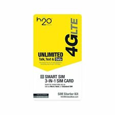 H2O wireless SIM card. UNLIMITED TALK/TEXT AND INTERNATIONAL CALLING INCLUDED