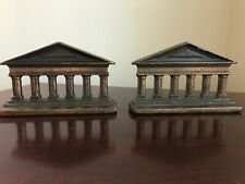 Vintage Pair of Solid Architectural Bookends
