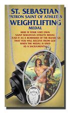 St.Sebastian Weightlifting Medal necklace