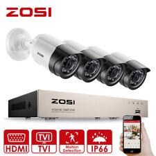 ZOSI 4CH 1080P DVR 4x 3000TVL IR Cut Outdoor CCTV Security Camera System Kit