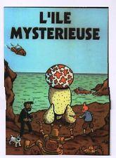 Carte TINTIN PASTICHE. L' île mystérieuse.  Tirage limité Tintinorama 2017