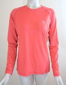 NWT Coolibar Women's UPF 50+ Long Sleeve Running Shirt with Pocket, Pink, Sz. S