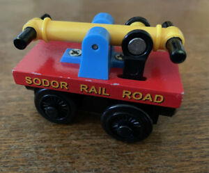 Genuine Learning Curve Wooden Thomas the Train Rare Red Handcar! Set Exclusive