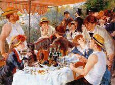'La colazione dei canottieri quadro - Stampa d''arte su tela telaio in legno'