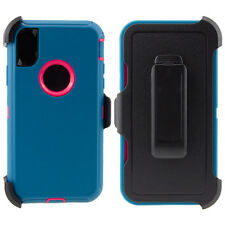 iPhone X 10 Case Cover (Clip fits Otterbox Defender) Tempered Glass Protector