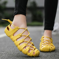 Womens Mesh Lace Up Walking Athletic Running Sneakers Lace Up Breathable Shoes