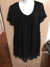 Boo Radley Silk Double Layer Tunic Black XL