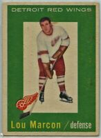 1959-60 Topps Hockey #49 Lou Marcon RC VG-EX Condition (2020-13)