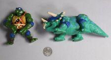 TMNT VTG Caveman Leo Figure Dingy Dino Teenage Mutant Ninja Turtles 1993 HTF