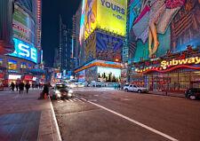 NEW YORK LIGHTS NEW A3 CANVAS GICLEE ART PRINT POSTER FRAMED