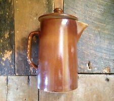 Pearsons of chesterfield brown utility 40's retro look tall coffee hotwater pot