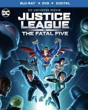 JUSTICE LEAGUE VS THE FATAL FIVE(BLU-RAY+DVD+DIGITAL)W/SLIPCOVER SHIPS 4/16/2019