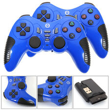 Lot 2Pcs 2.4G USB Wireless Remote Game Controller Gamepad Antiskid for PC L