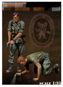 1:35 resin soldiers figures model vietnam war US search soldiers 2 garage kit