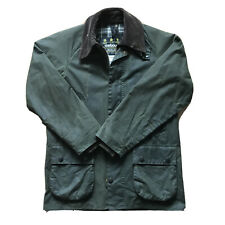 Rare Vtg Barbour A100 Bedale Dark Green Wax Distressed Jacket Size C34 / 86CM