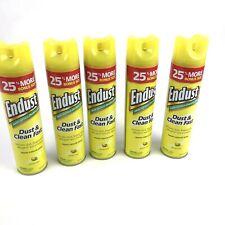 5 Pack Endust Multi-Surface Dusting & Cleaning Spray Aerosol, Lemon Zest,12.5oz