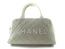 CHANEL Sport Line Canvas, Leather Light Gray Mini Hand Bag CP8284L