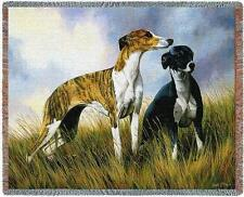 Throw Tapestry Afghan - Greyhound Pair by Robert May 2006 IN STOCK