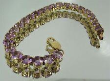"Unbranded Tennis Amethyst Fine Bracelets 7 - 7.49"" Length"